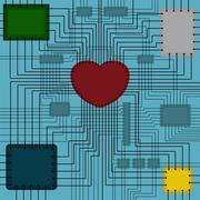 scheme with heart - stock illustration