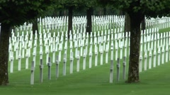 The American Meuse-Argonne Cemetery, Meuse, France. - stock footage