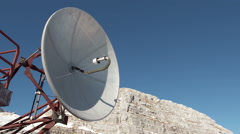 Broadcast Disc Antenna For Radio And TV Emiting Stock Footage