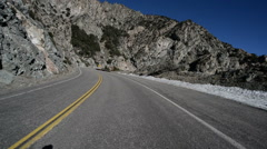 Driving Plates Mountains Timelapse CAM1 Front 06 Angeles Crest Highway Stock Footage