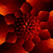 orange concentric flower pattern - abstract background for design artworks - - stock illustration