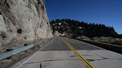 Driving Plates Mountains Timelapse CAM2 Rear 02 Angeles Crest Highway - stock footage