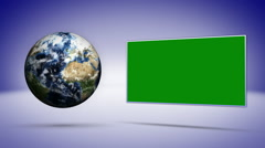 Earth Concept Background, with Green Screen Monitor Stock Footage