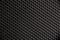 Macro photograph of a black nylon fabric Stock Photos