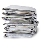 In front files arranged in stack Stock Photos