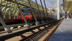 Golden Horn Metro Bridge Station Stock Footage