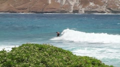 Surfer in Hawaii Stock Footage