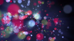 Wonderful video animation with bubbles and lights in motion, loop hd 1080p Stock Footage