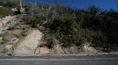 Driving Plates Mountains Timelapse CAM3 L 01 Angeles Crest Highway California Stock Footage