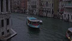 Venice Italy Grand Canal beautiful boats sunset dark 4K 033 - stock footage