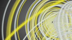 Fantastic video animation with moving particle stripe object, loop hd 1080p Stock Footage