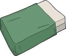 Mattresses with green blanket Stock Illustration