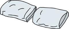 pair of pillows - stock illustration