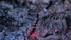 Burning charcoal. Ember. Timelapse Stock Footage