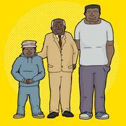 Three generations of family Stock Illustration