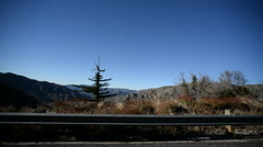Driving Plates Mountains Timelapse CAM4 R 03 Angeles Crest Highway California Stock Footage