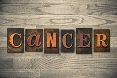 Cancer concept wooden letterpress type Stock Photos