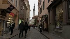 Tallinn's street Stock Footage
