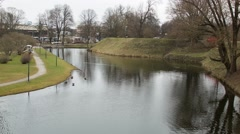 Tallinn pond Snelli tiik Stock Footage