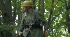 German soldier patrol 15 Stock Footage