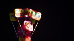 Flashing LED sign in adventureland Stock Footage