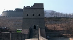 Great wall of China with road Arkistovideo