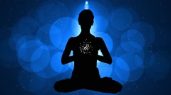 Animation Meditation with Particle 08 blue Stock Footage