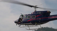Helicopter, Bell 212 depart Stock Footage