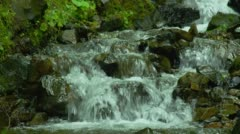 Rapids flowing in Columbia river gorge Stock Footage