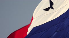 Panama Close Up of Panamanian Flag With Copy Space 4K - stock footage