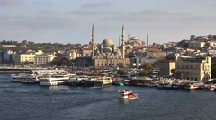 Istanbul from the Golden Horn Stock Footage