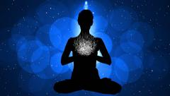 Stock Video Footage of Animation Meditation with Particle 12 blue