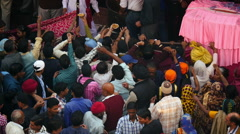 Indian Sikh Festival in New Delhi Stock Footage