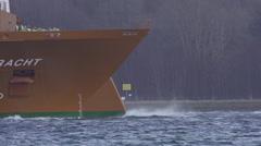 Vessel in Storm Baltic Sea Stock Footage