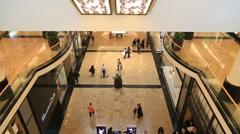 Elegant Shopping Mall Stock Footage