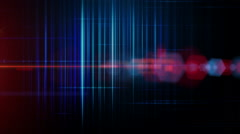 fantastic animation with stripe object and lights in motion, loop hd 1080p - stock footage