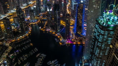Ultra Hd, 4K time lapse aerial view Sheikh Zayed Road with Dubai Marina - stock footage