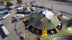 Cirque de soliel aerial orbit 4k Stock Footage