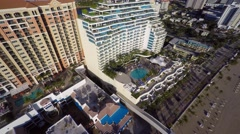 fort lauderdale beach panorama aerial 4k video - stock footage