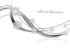 Silver metal abstract Christmas background - stock illustration