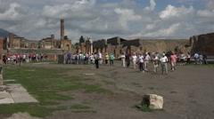 Naples Italy Pompeii tour exploring ruins 4K 021 Stock Footage