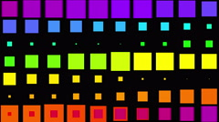 4k vj square neon light array matrix background&cube big data database backdrop Stock Footage