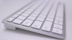 Keyboard Typing Mac Close Up Stock Footage