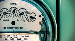 Electricity Meter (Time-Lapse 4K) Electrical Arkistovideo