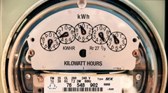 Electricity Meter (Time-Lapse 4K) Electrical Stock Footage