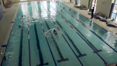 Stock Video Footage of gym: trainers, swimming pool, boxing