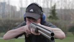 Stock Video Footage of rifle shooting and archery