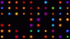 4k Color flower petal nature neon light pattern & Colorful point array matrix. Stock Footage