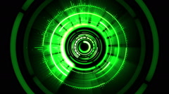Green VJ Visuals on the Rhythm of a beat Stock Footage