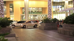 The Dubai mall entrance door Stock Footage